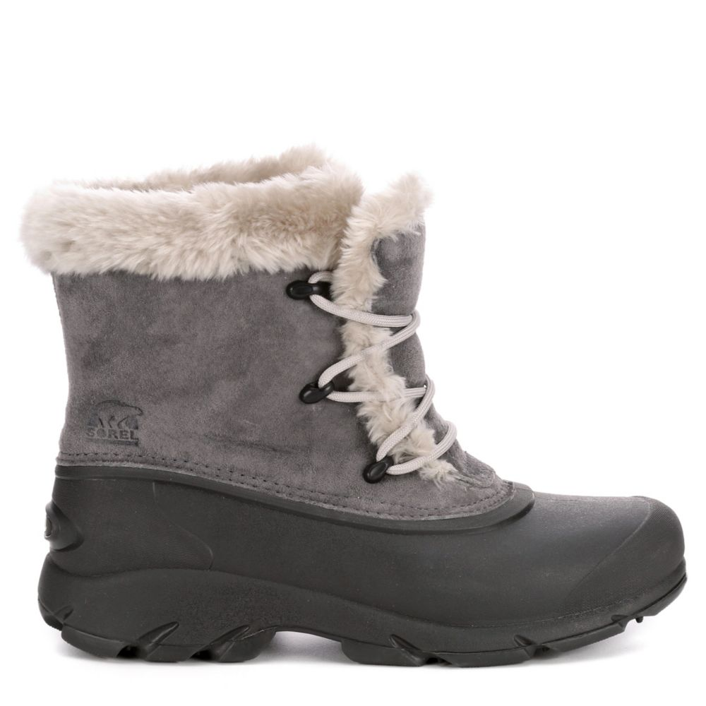 Sorel Womens Snow Angel Lace Grey USA - GOOFASH - Womens LEATHER SHOES