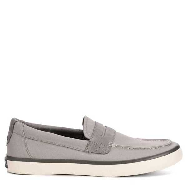 Sperry Mens Mainsail Penny Loafers Grey USA - GOOFASH - Mens LOAFERS