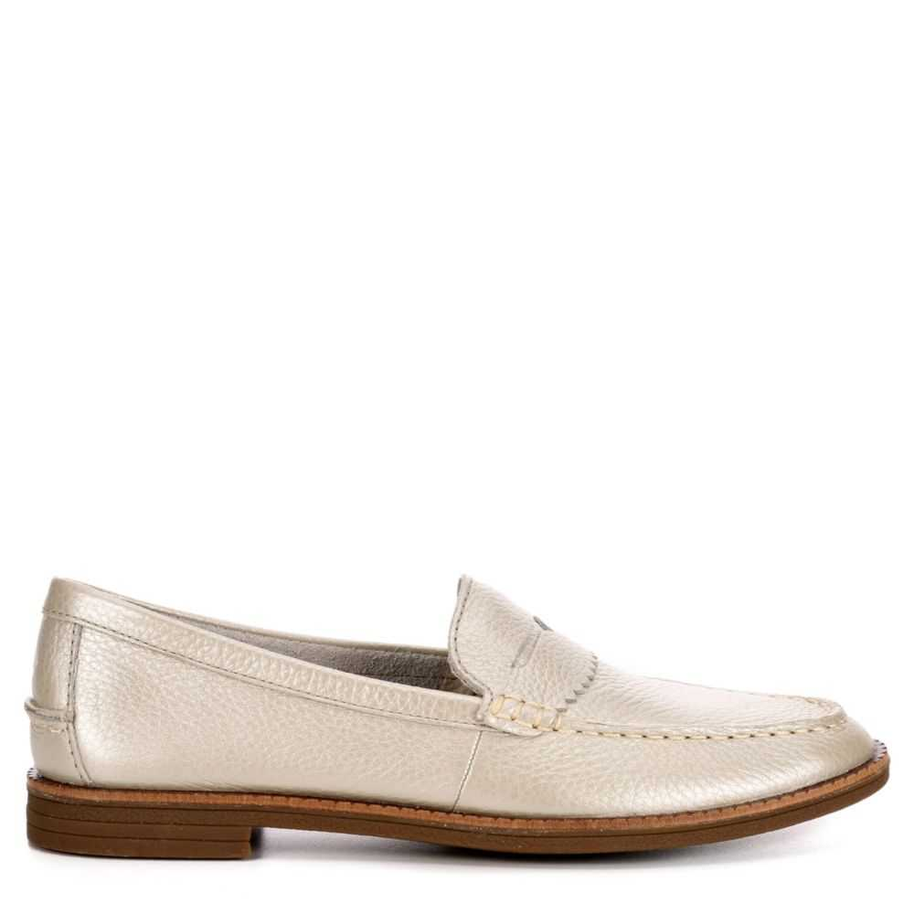 Sperry Womens Waypoint Loafers Platinum USA - GOOFASH - Womens FLAT SHOES