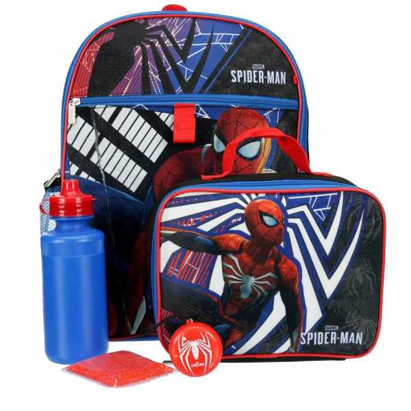 Spiderman Boys Backpack Multicolor USA - GOOFASH - Mens BAGS