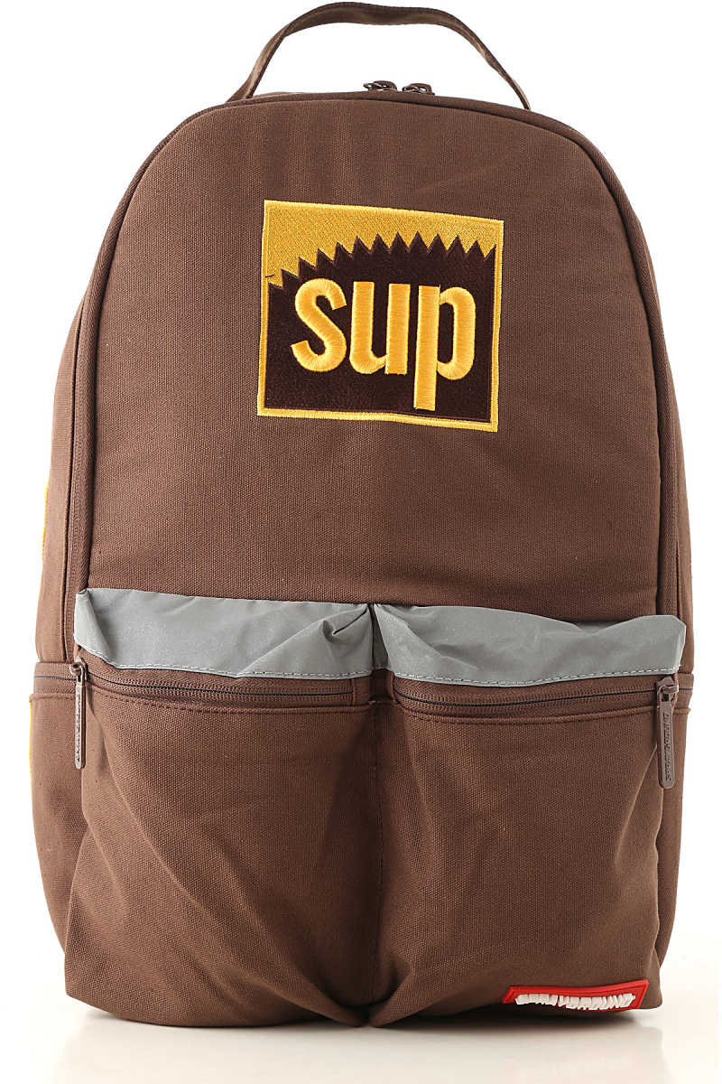 Sprayground Backpack for Men Brown - GOOFASH