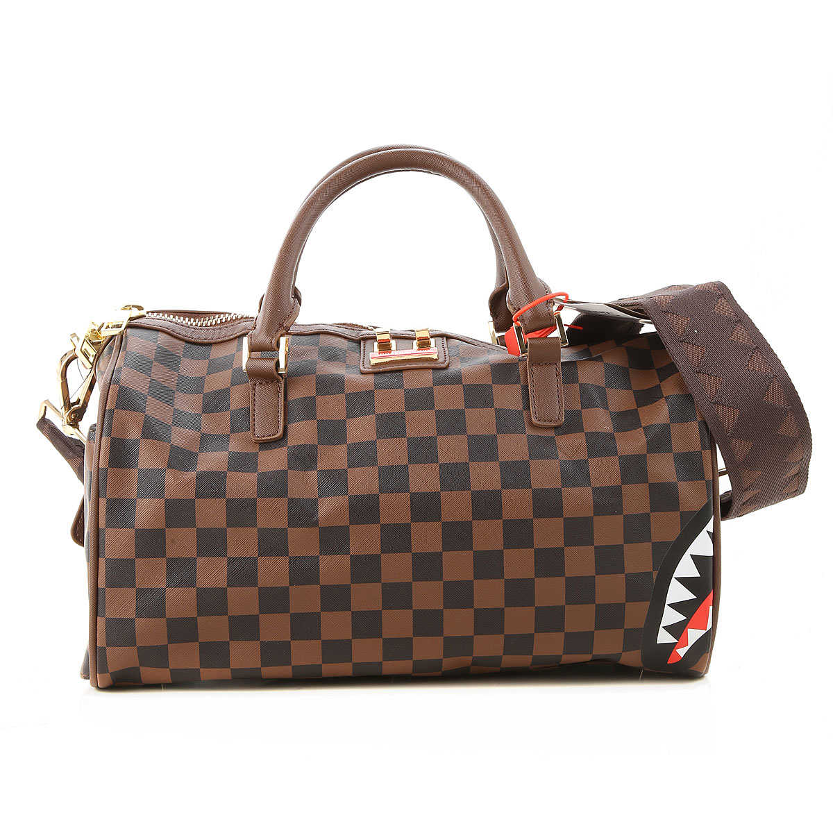 Sprayground Weekender Duffel Bag for Men Brown UK - GOOFASH