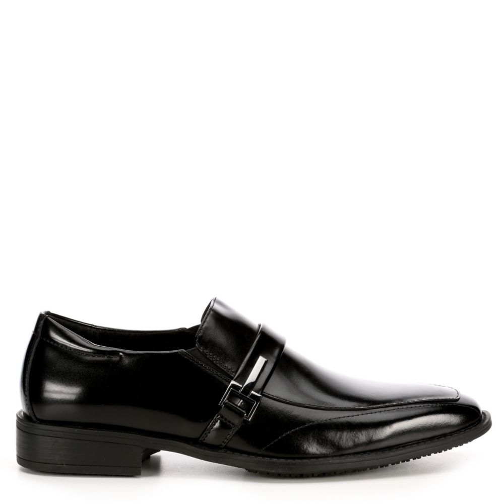 Stacy Adams Mens Abram Loafers Black USA - GOOFASH - Mens LOAFERS