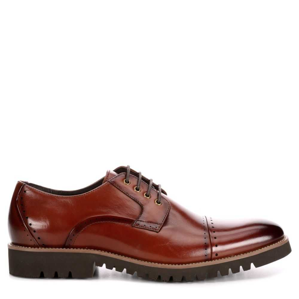 Stacy Adams Mens Barcliff Oxfords Cognac USA - GOOFASH - Mens LEATHERS SHOES