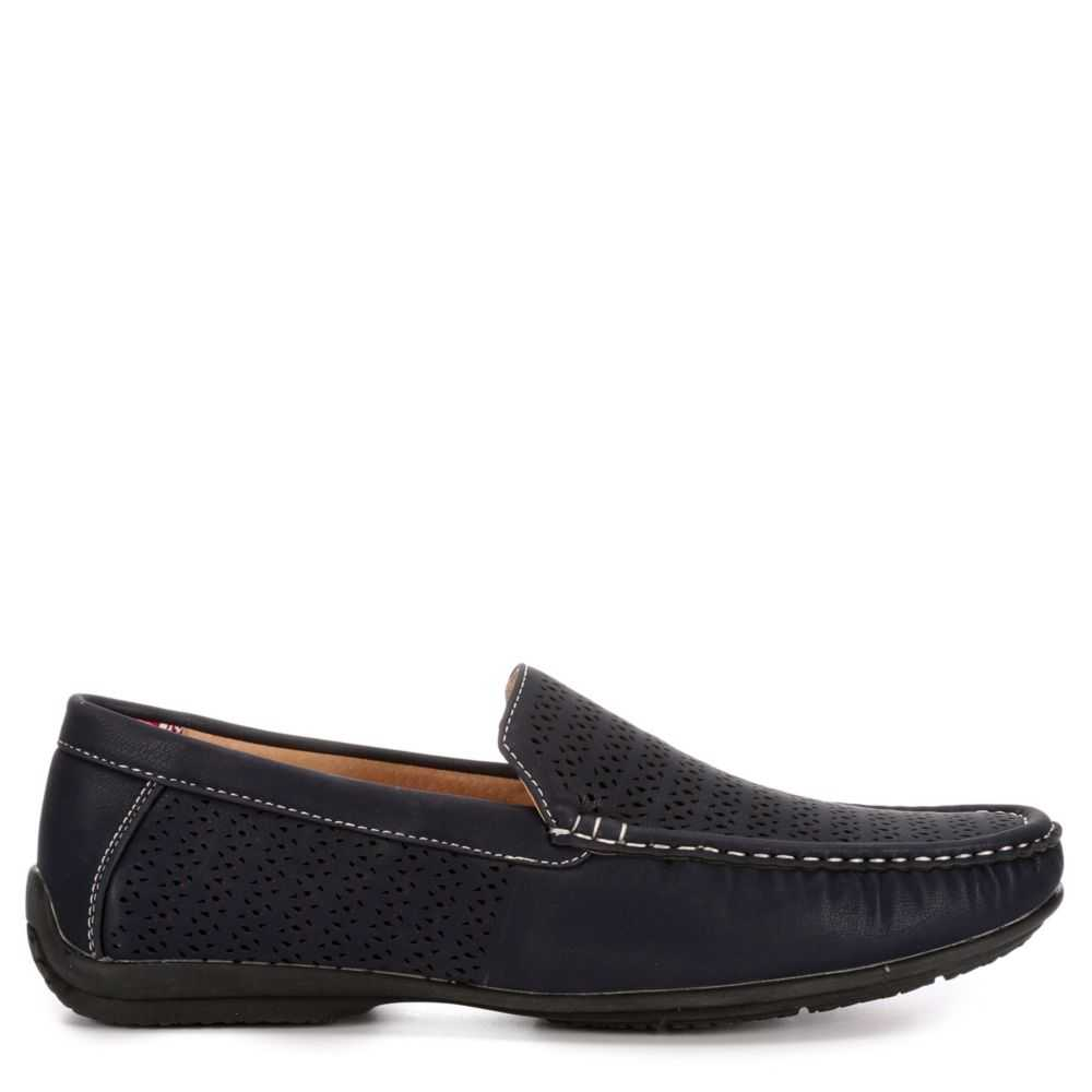Stacy Adams Mens Cicero Loafers Navy USA - GOOFASH - Mens LOAFERS