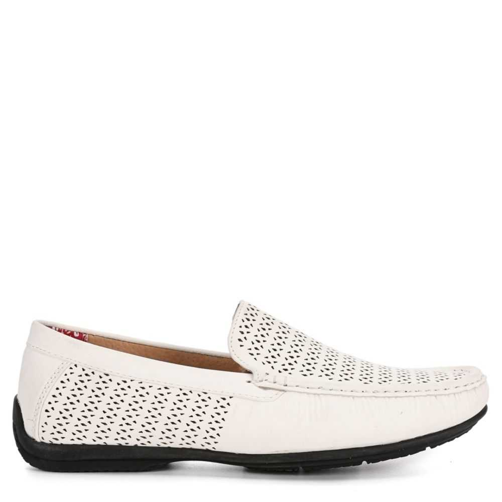 Stacy Adams Mens Cicero Loafers White USA - GOOFASH - Mens LOAFERS