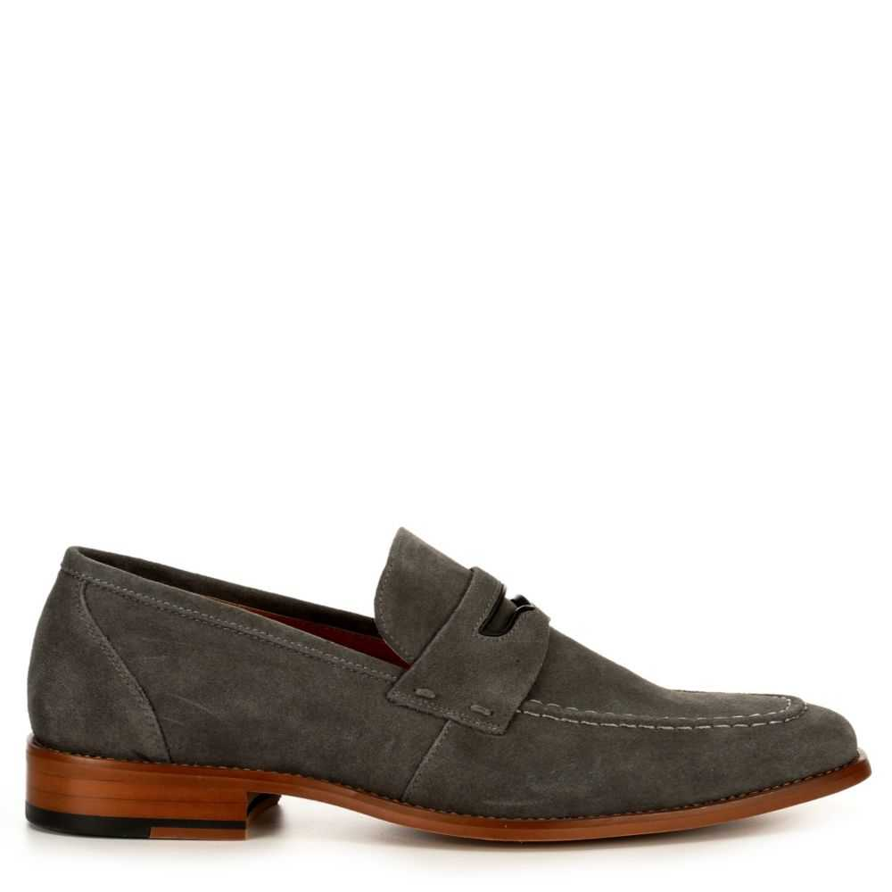 Stacy Adams Mens Colfax Loafers Grey USA - GOOFASH - Mens LOAFERS