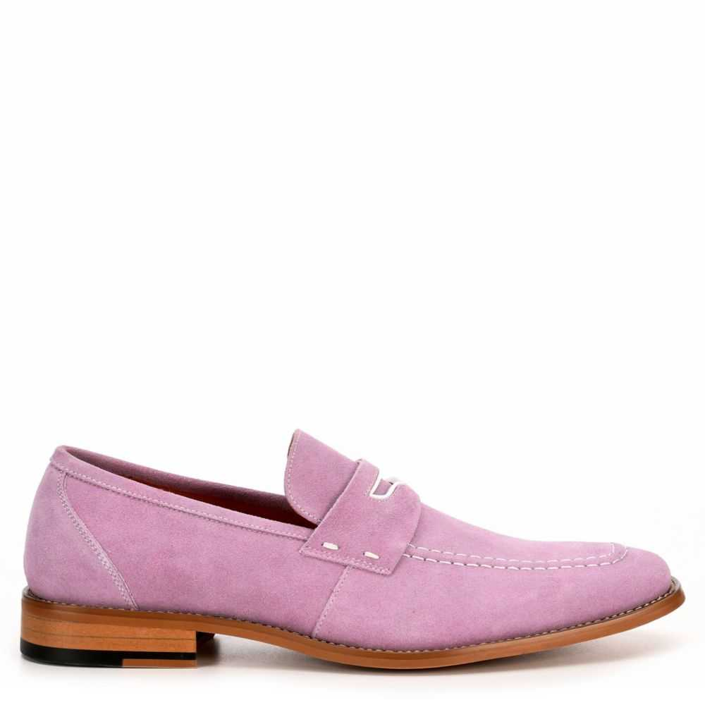 Stacy Adams Mens Colfax Loafers Lilac USA - GOOFASH - Mens LOAFERS