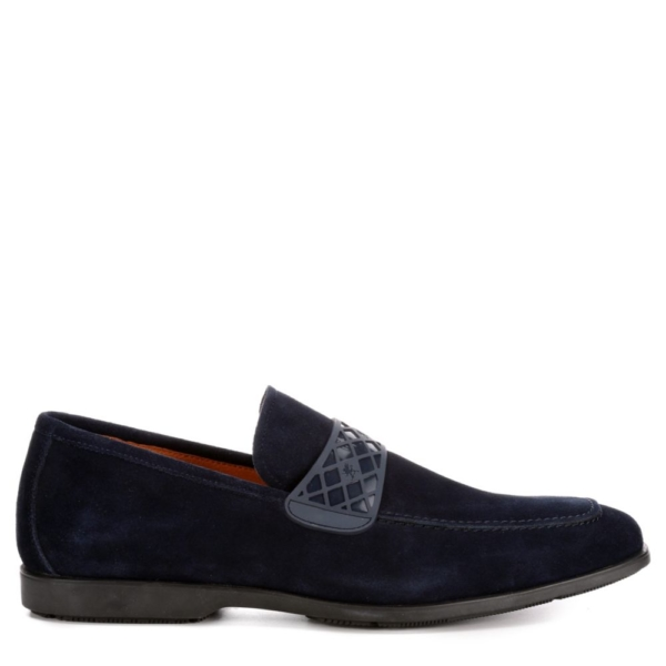 Stacy Adams Mens Crispin Loafers Navy USA - GOOFASH - Mens LOAFERS