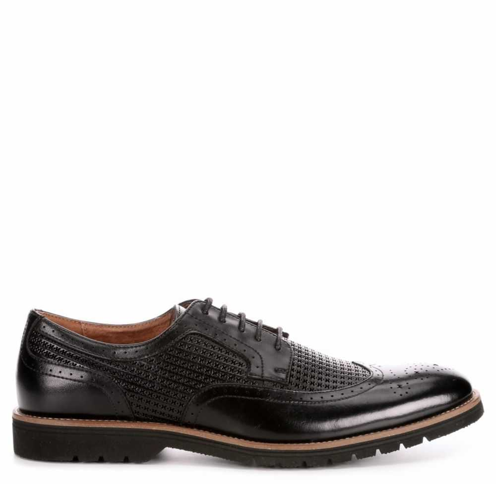 Stacy Adams Mens Emile Oxfords Black USA - GOOFASH - Mens LEATHERS SHOES