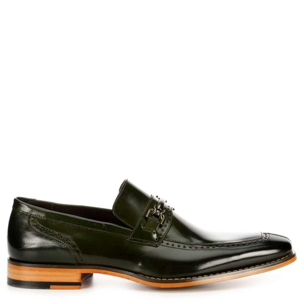 Stacy Adams Mens Tanner Loafers Dark Green USA - GOOFASH - Mens LOAFERS
