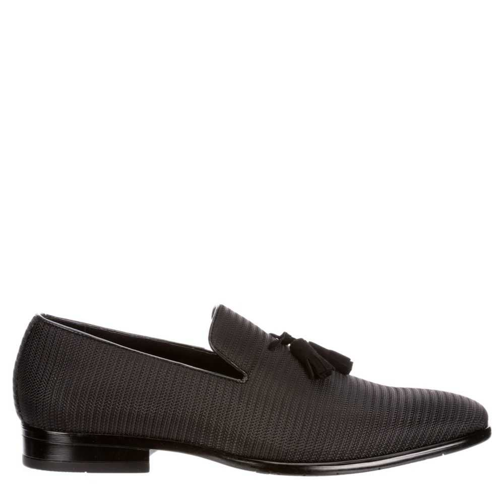 Stacy Adams Mens Tazewell Plain Loafers Black USA - GOOFASH - Mens LOAFERS