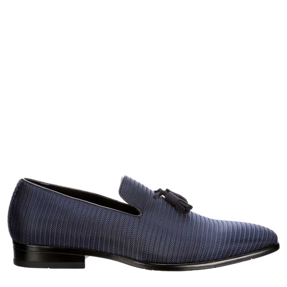 Stacy Adams Mens Tazewell Plain Loafers Navy USA - GOOFASH - Mens LOAFERS