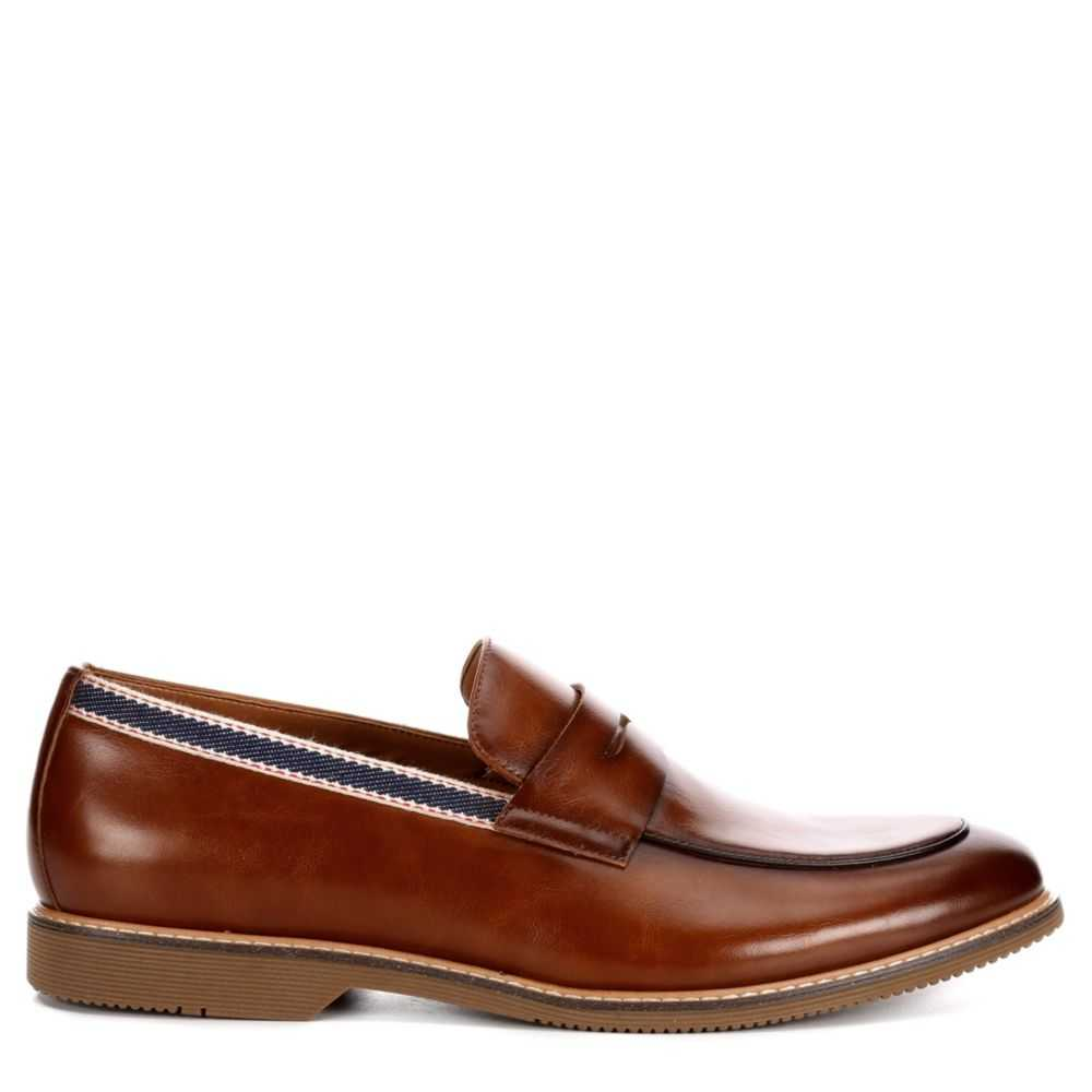 Steve Madden Mens Orre Moc Toe Dress Casual Loafer Loafers Tan USA - GOOFASH - Mens LOAFERS