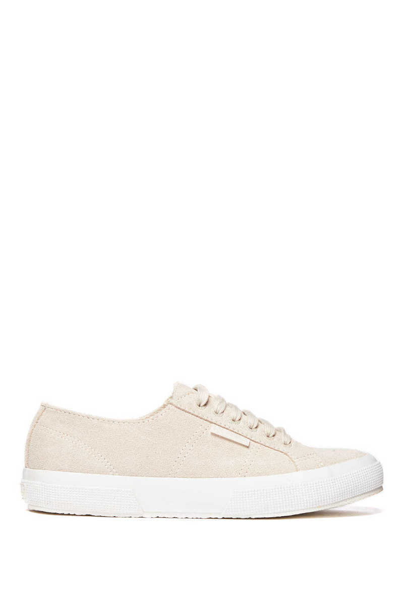 Superga Classic Suede Cafe Lace Up Sneaker Tan 8.5 USA - GOOFASH