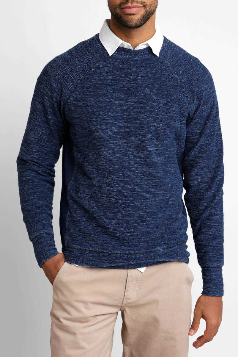The Normal Brand Slub Terry Pullover Indigo S USA - GOOFASH