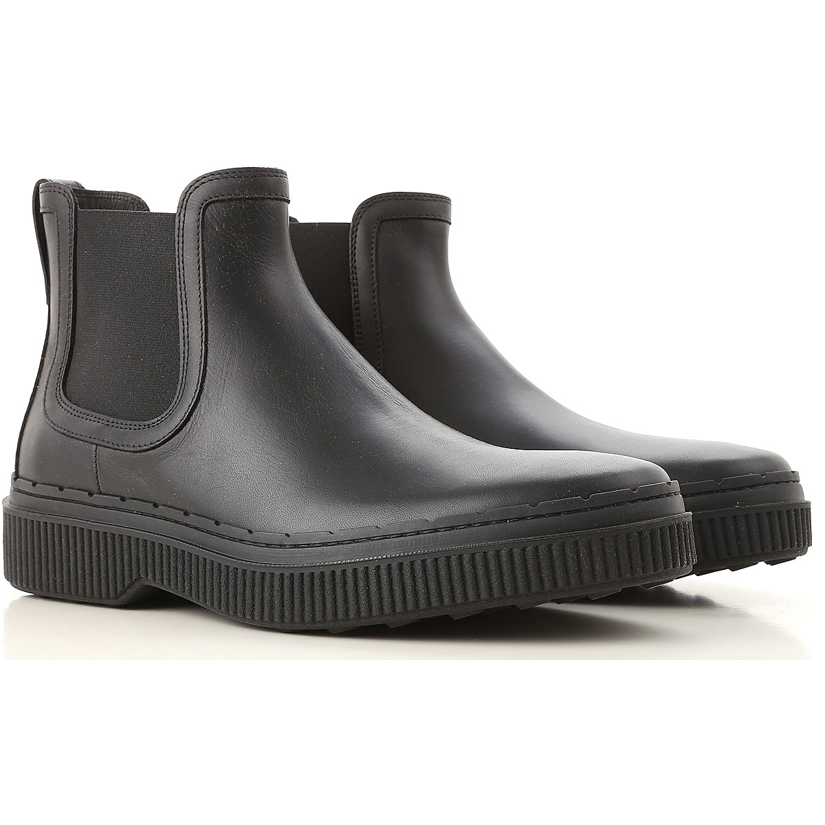 Tods Chelsea Boots for Men On Sale Black - GOOFASH