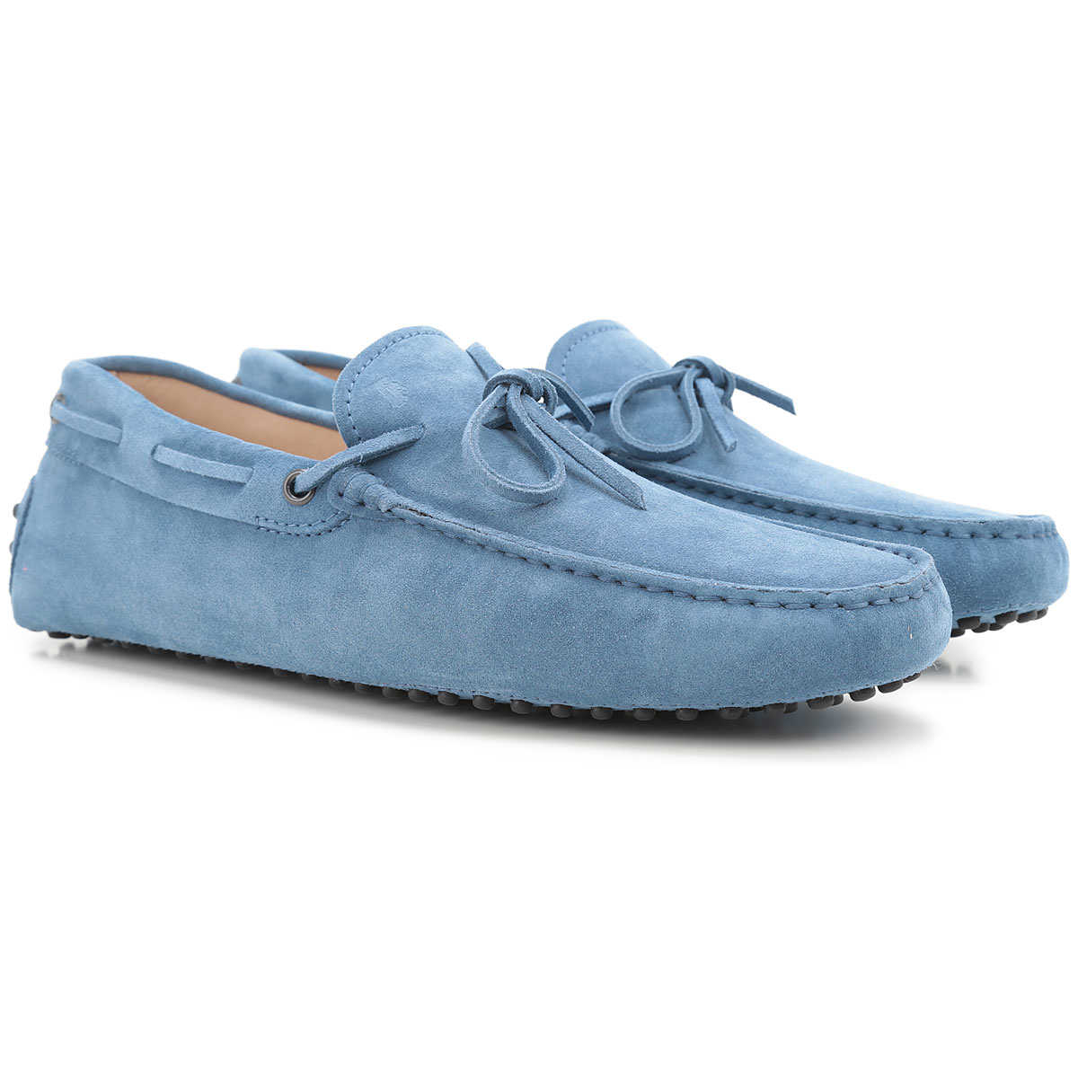 Tods Driver Loafer Shoes for Men On Sale Avio Blue - GOOFASH