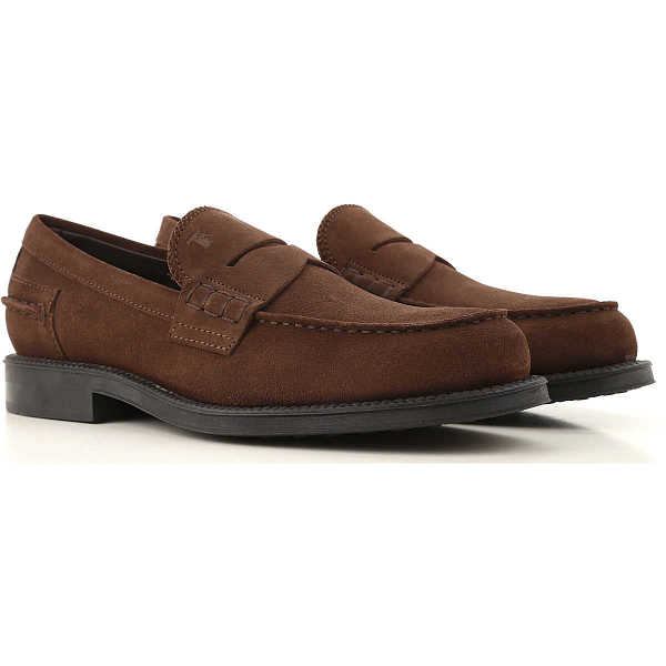 Tods Loafers for Men Coffee - GOOFASH