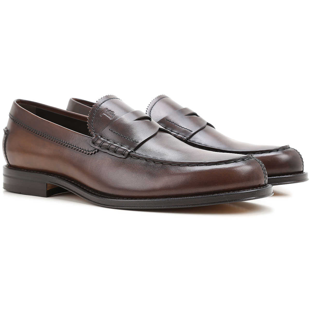 Tods Loafers for Men On Sale Cacao - GOOFASH