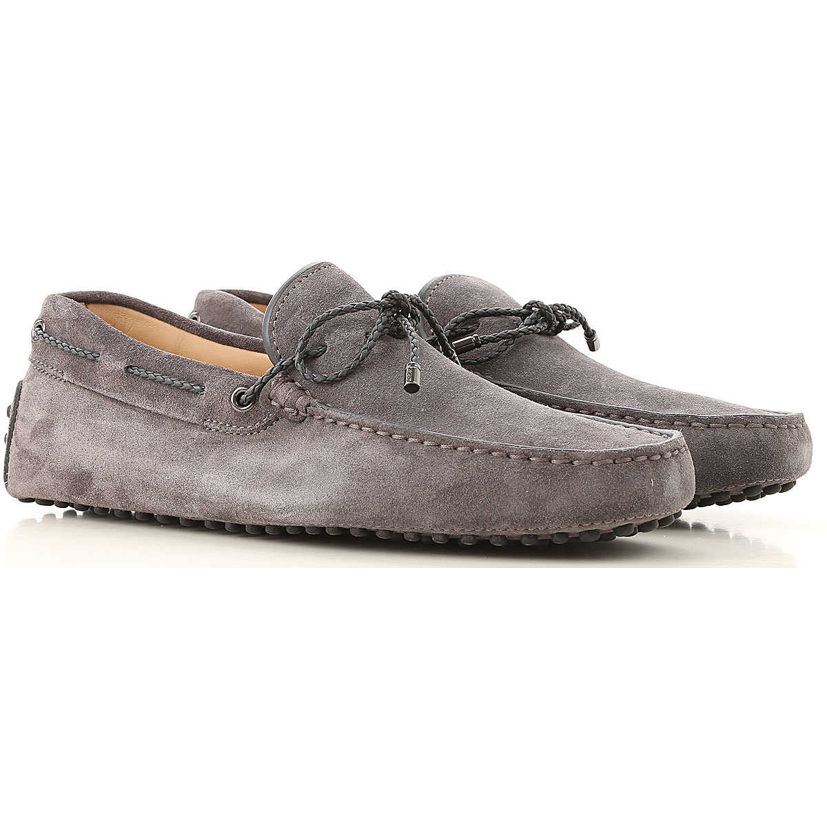 Tods Loafers for Men On Sale Grey - GOOFASH