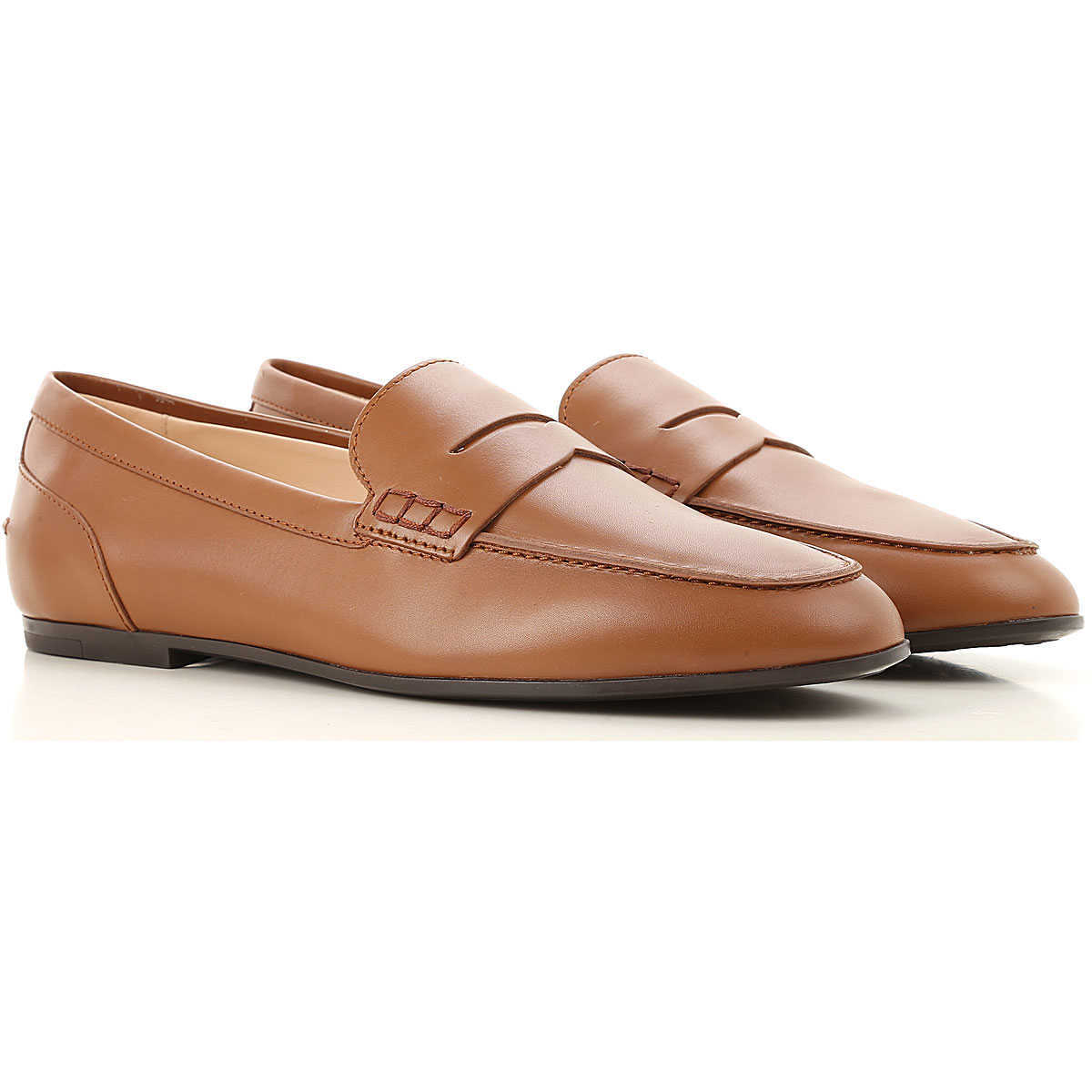 Tods Loafers for Women Brandy UK - GOOFASH