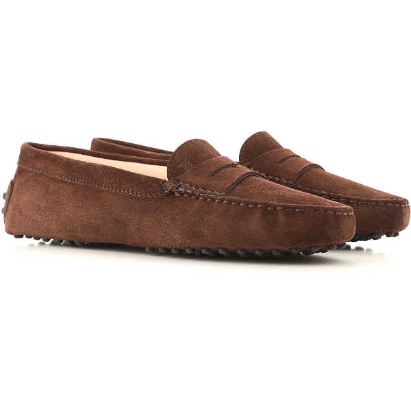 Tods Loafers for Women Brown - GOOFASH