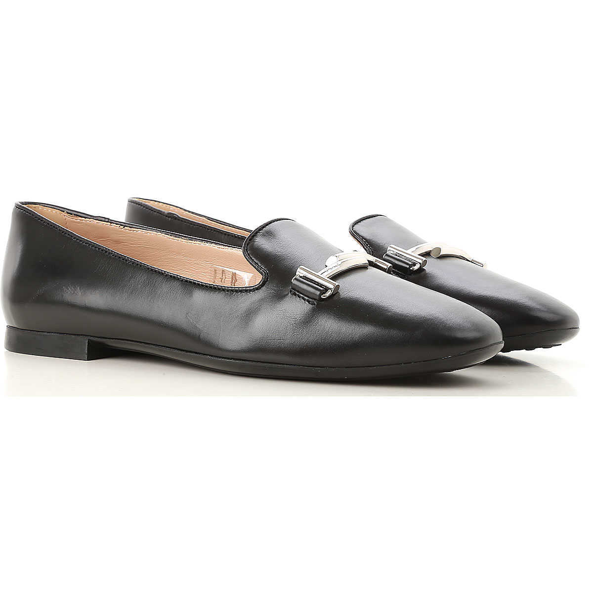 Tods Loafers for Women On Sale Black - GOOFASH