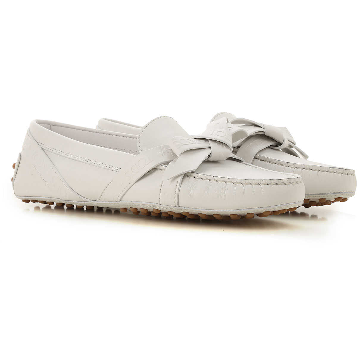 Tods Loafers for Women On Sale Icy White - GOOFASH