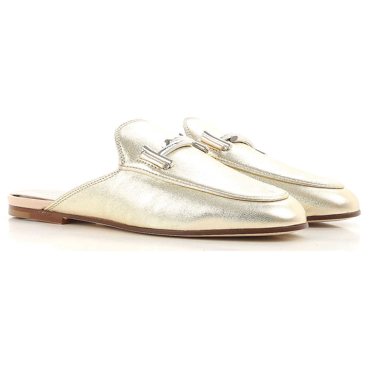 Tods Loafers for Women On Sale Platinum - GOOFASH