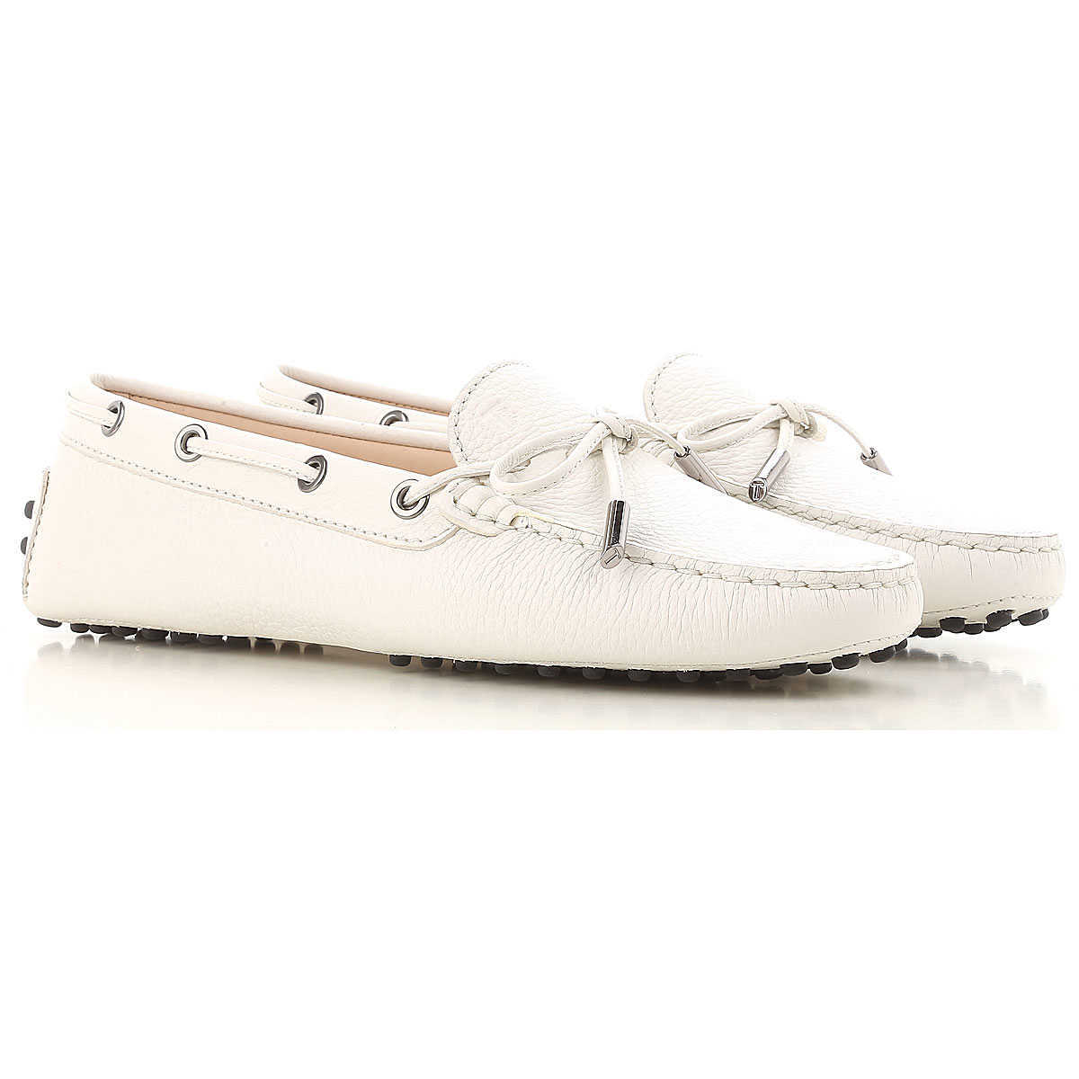 Tods Loafers for Women On Sale White - GOOFASH
