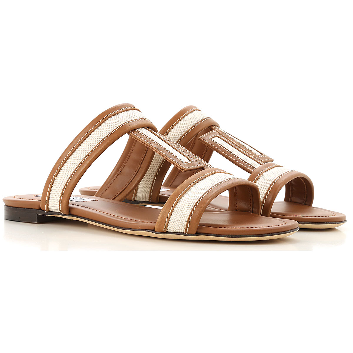 Tods Sandals for Women Leather UK - GOOFASH