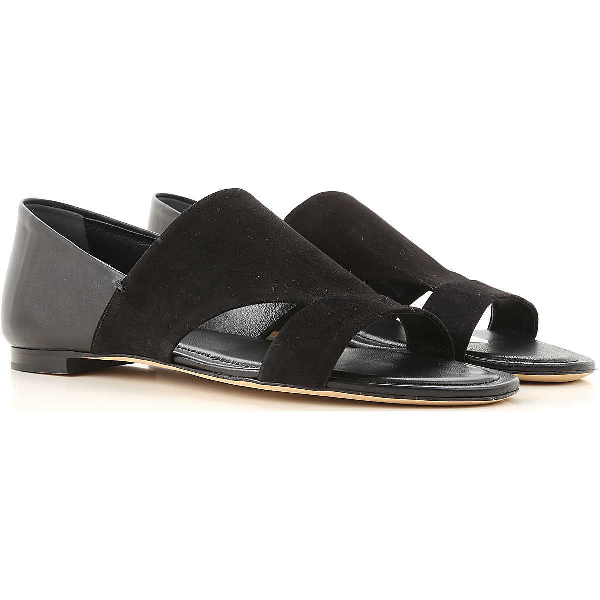 Tods Sandals for Women On Sale Black - GOOFASH
