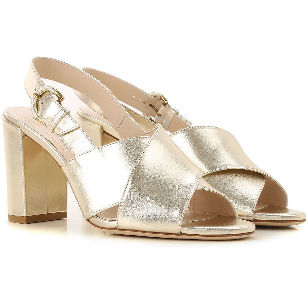Tods Sandals for Women On Sale Gold - GOOFASH