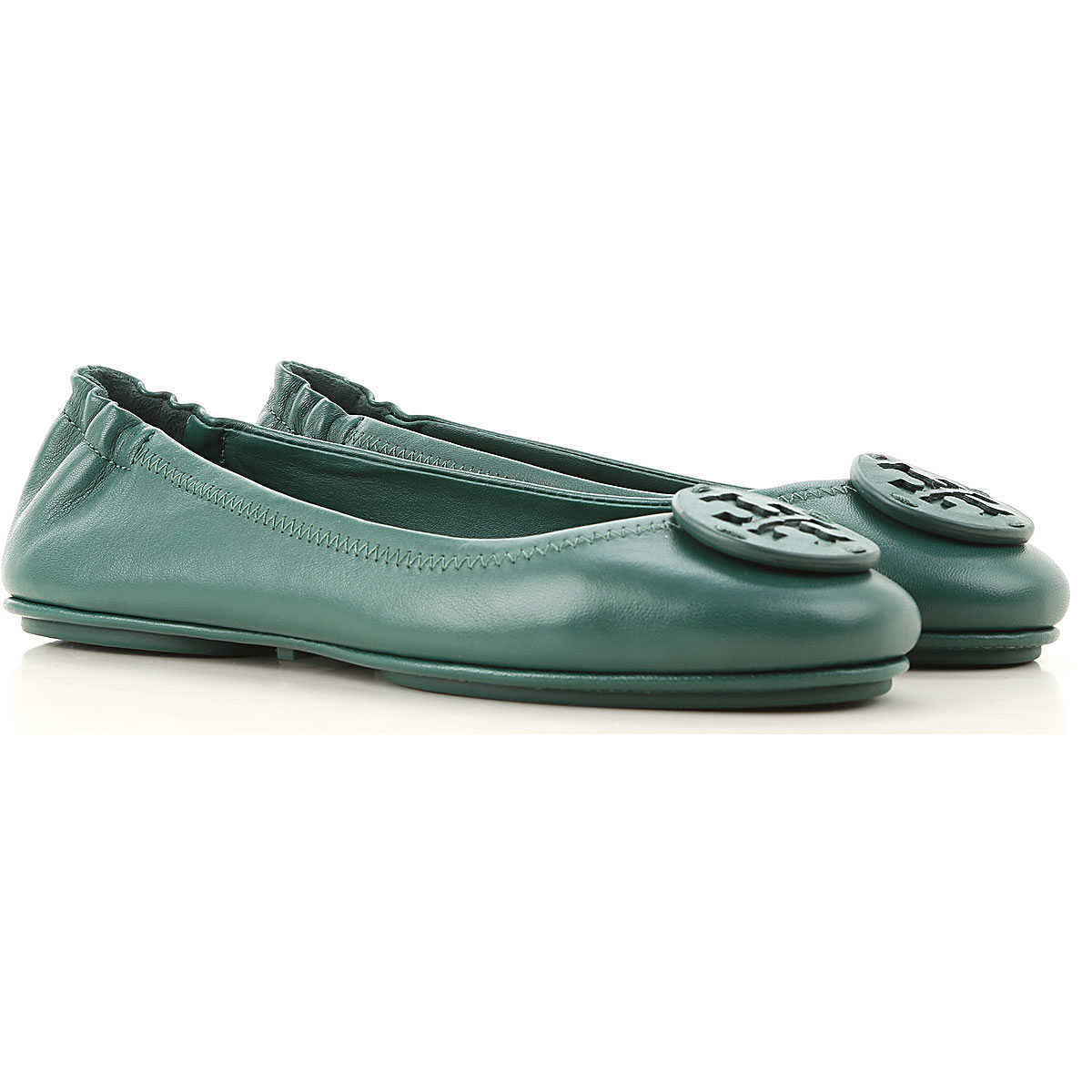 Tory Burch Ballet Flats Ballerina Shoes for Women Malachite Green - GOOFASH