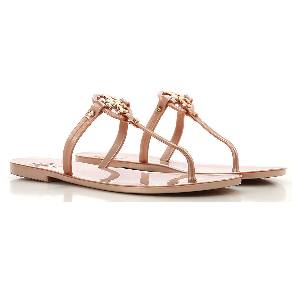 Tory Burch Sandals for Women On Sale Rose Gold - GOOFASH