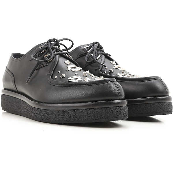 Valentino Garavani Lace Up Shoes for Men Oxfords 5.5 6 6.5 6.75 7 Derbies and Brogues On Sale in Outlet UK - GOOFASH