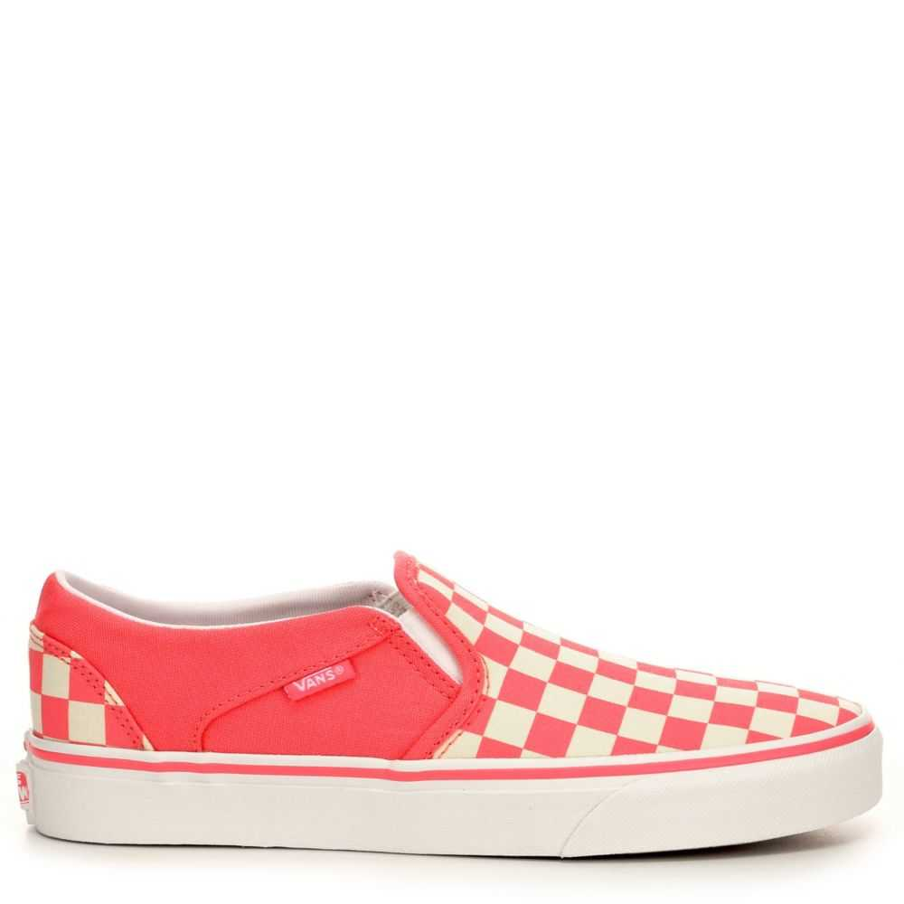 Vans Womens Asher Slip-On Shoes Sneakers Pink USA - GOOFASH - Womens SNEAKER