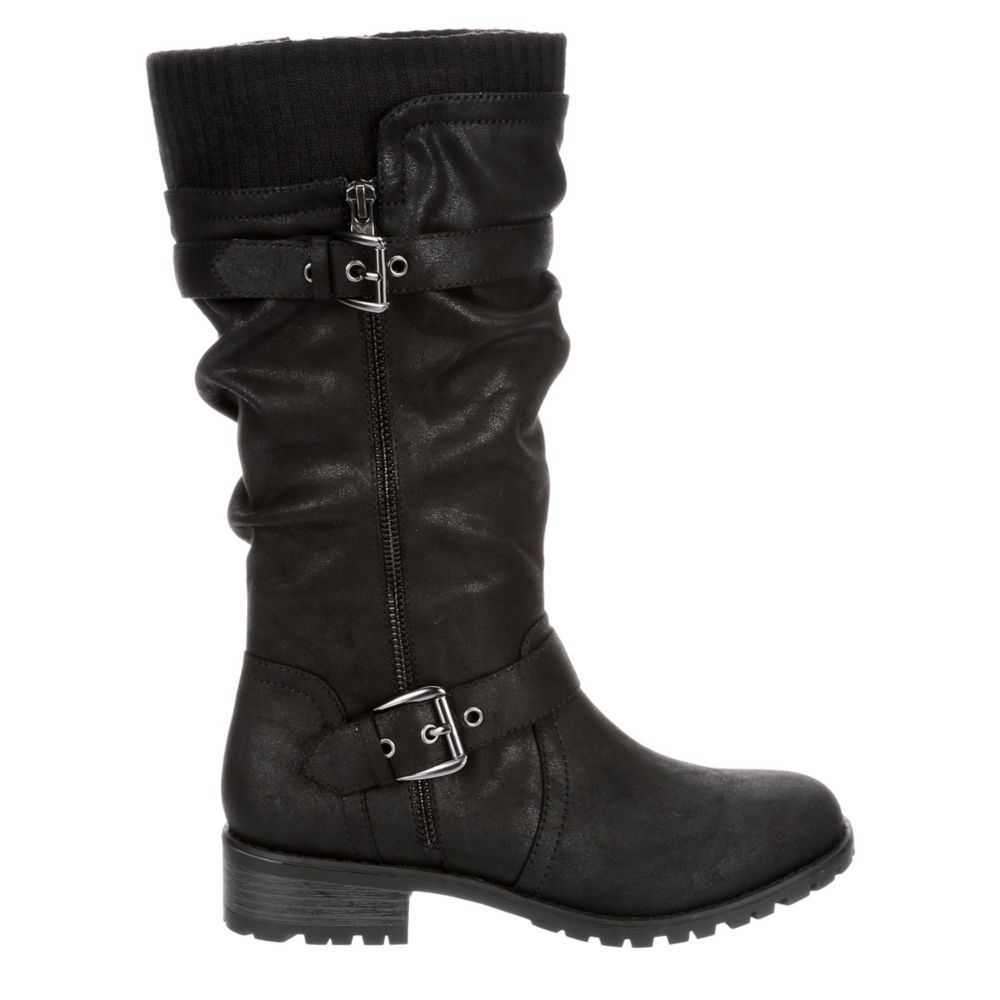 Xappeal Womens Chelsey Riding Boots Black USA - GOOFASH - Womens BOOTS
