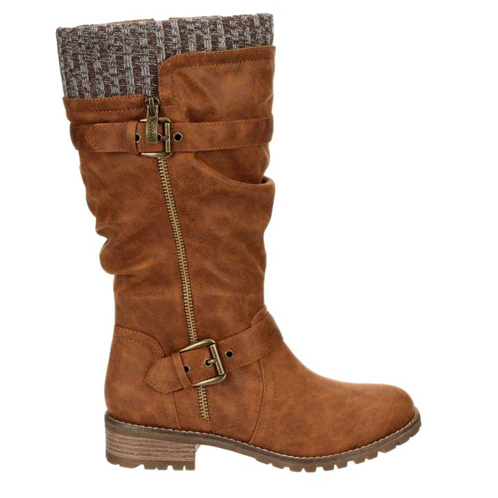 Xappeal Womens Chelsey Riding Boots Brown USA - GOOFASH - Womens BOOTS