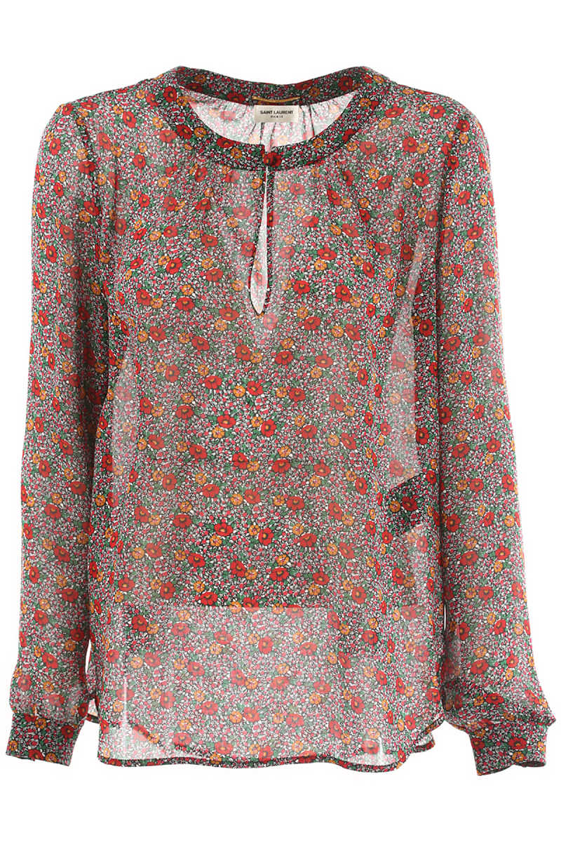 Yves Saint Laurent Shirt for Women On Sale in Outlet Red - GOOFASH