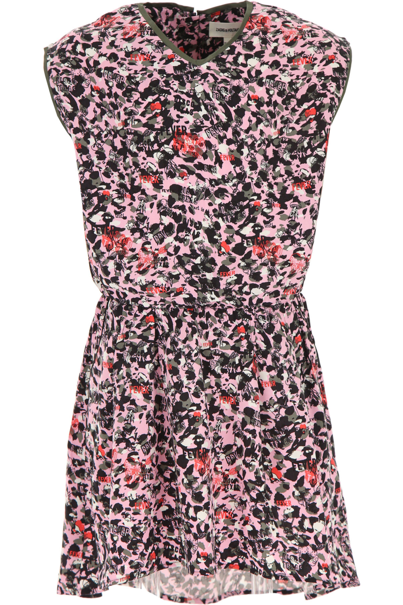 Zadig & Voltaire Girls Dress On Sale Pink SE - GOOFASH