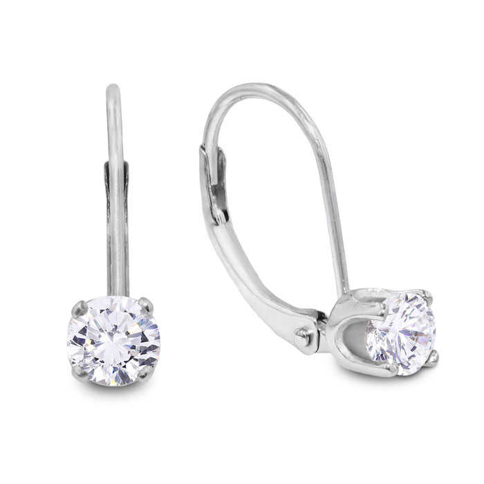 1/2 Carat Diamond Drop Earrings in 14k White Gold (1.1 g)
