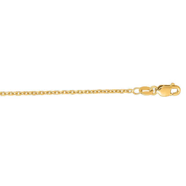 14K Yellow Gold (3 g) 1.50mm 20 Inch Cable Link Chain Necklace UK - GOOFASH - Womens JEWELRY