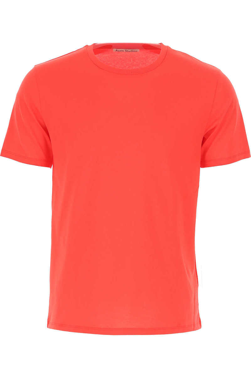 Acne Studios T-Shirt for Men On Sale Cherry Red UK - GOOFASH - Mens T-SHIRTS
