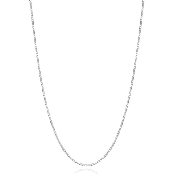 Adjustable Box Chain in Sterling Silver