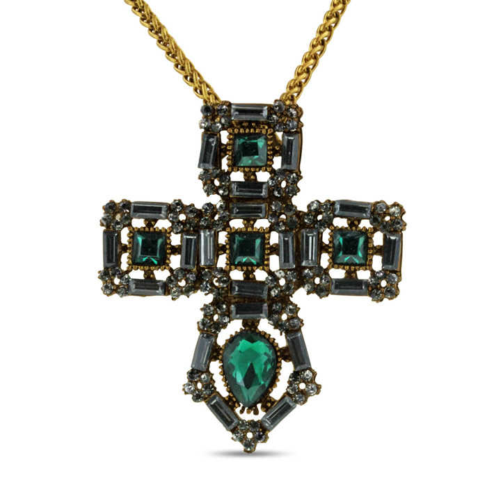 Adoriana Cathedral Cross Necklace