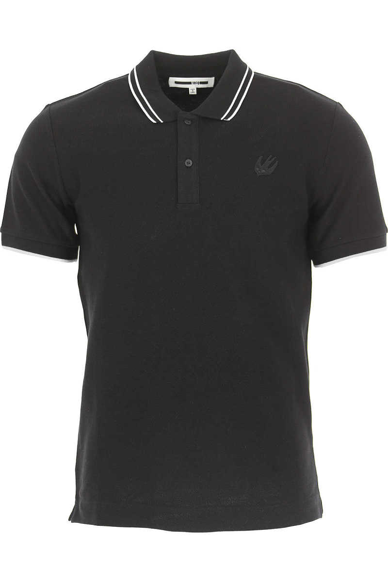 Alexander McQueen McQ Polo Shirt for Men On Sale in Outlet Black UK - GOOFASH - Mens POLOSHIRTS