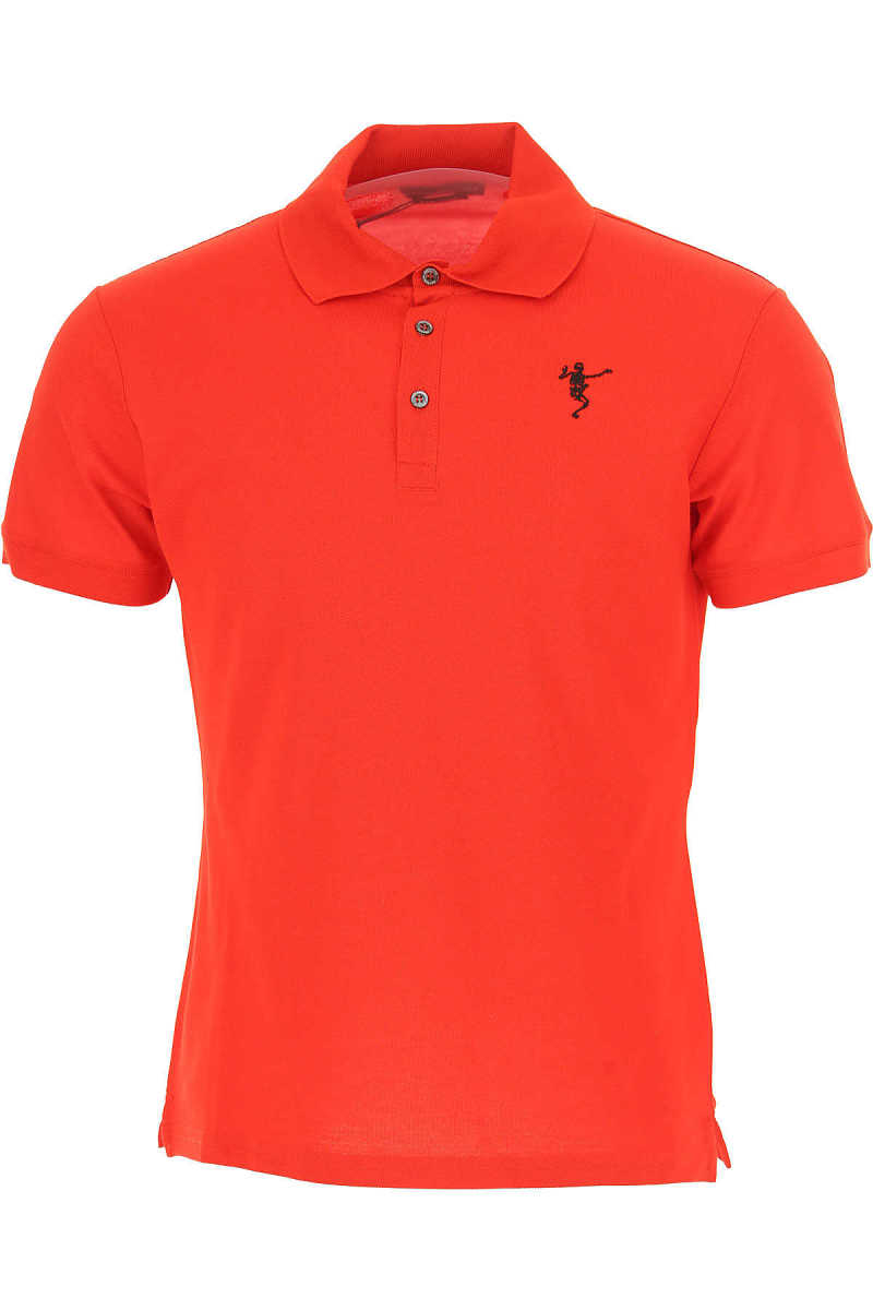 Alexander McQueen Polo Shirt for Men On Sale in Outlet Red UK - GOOFASH - Mens POLOSHIRTS