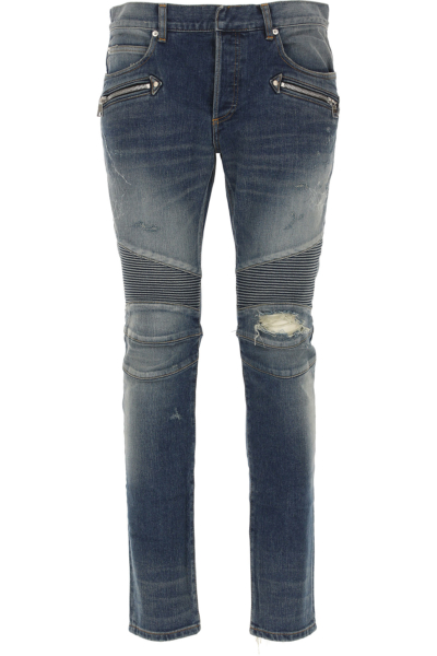 Balmain Jeans On Sale in Outlet Blue Denim - GOOFASH